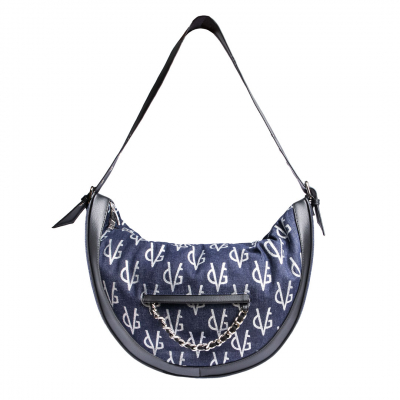 VG Half-moon bag in monogram jeans
