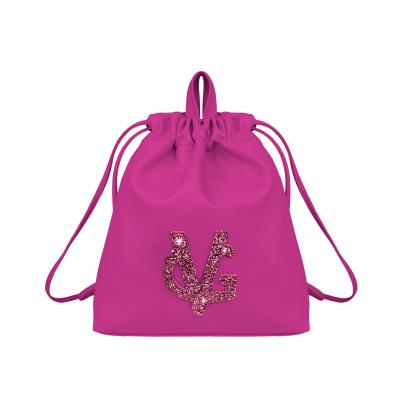 VG fuchsia & fuchsia glitter backpack