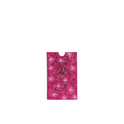 VG fuchsia glitter holder