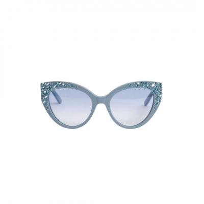 ❤️ VG lunettes de soleil avec swarovski bleu clair