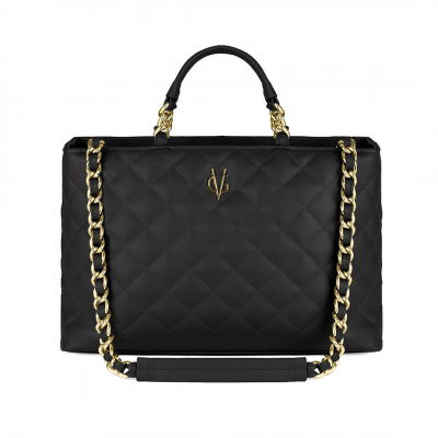 VG Large black quilted bag