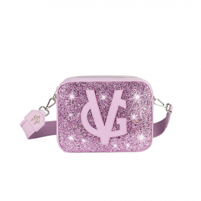 VG basic grand sac à bandoulière savon glitter lilas