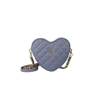 VG violet quilted small heart bag