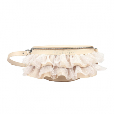 VG x FELEPPA - Light rose rouches tulle lurex pouch