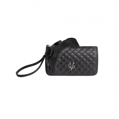 VG black rouches wallet