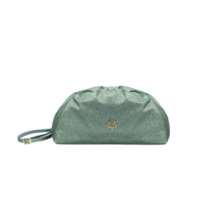 VG green sage glitter big pouch bag