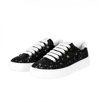 VG Sneakers glitter nero