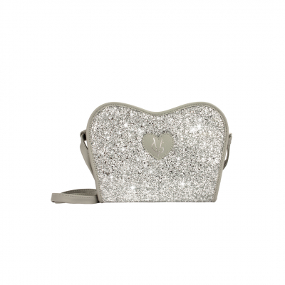 ❤️VG Low Cost-Too Chic clutch grigia & glitter argento