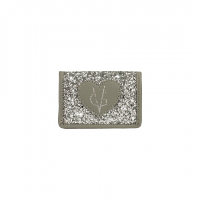 ❤️VG Low Cost-Too Chic gray and silver glitter card holder