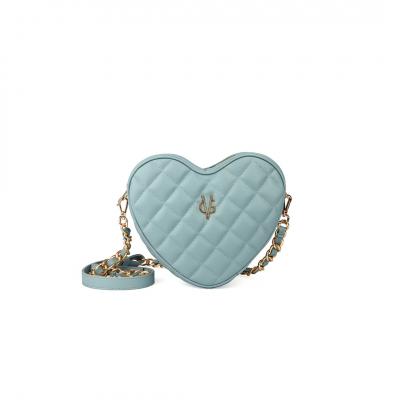 VG petit sac à bandoulière coeur matelassé vert sage