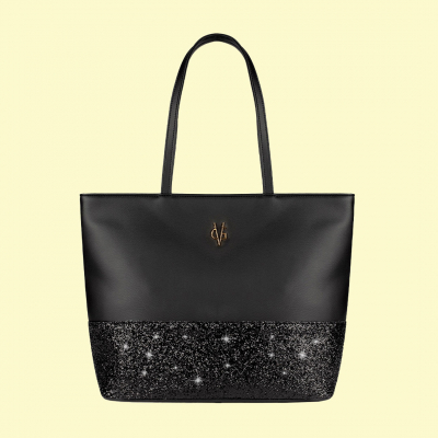 VG shopping nera & glitter nero