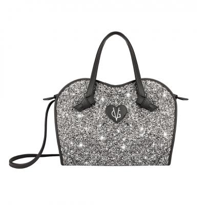 ❤️VG Low Cost-Too Chic borsa a mano nera & glitter sale e pepe