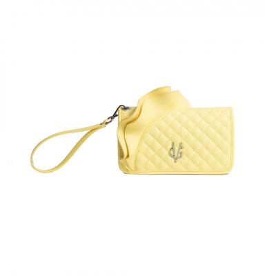 VG portafoglio rouches giallo vanilla