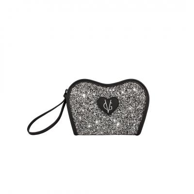 ❤️VG Low Cost-Too Chic clutch nera & glitter sale e pepe