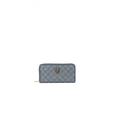 VG violet glitter quilted wallet
