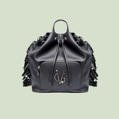 VG black Urban fringed backpack